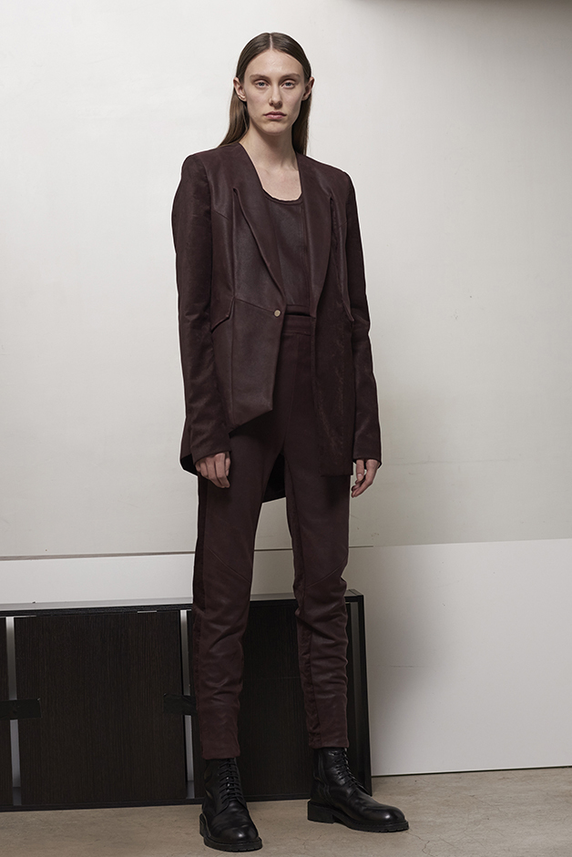 ILARIA NISTRI FALL WINTER 2016 COLLECTION blazer leather top   leather pants