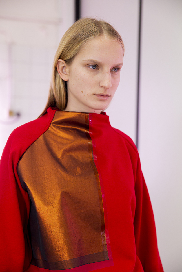 red sweater - ilaria nistri roque fall winter 2019 collection