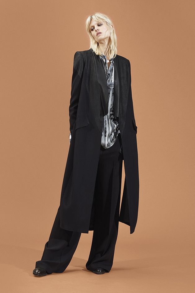 OVERCOAT - SCAFFOLDING FILTER PRINT BLOUSE - PANTS