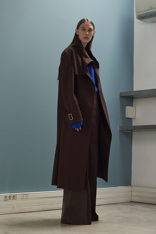 ILARIA NISTRI FALL WINTER 2016 COLLECTION coat blouse leather pants