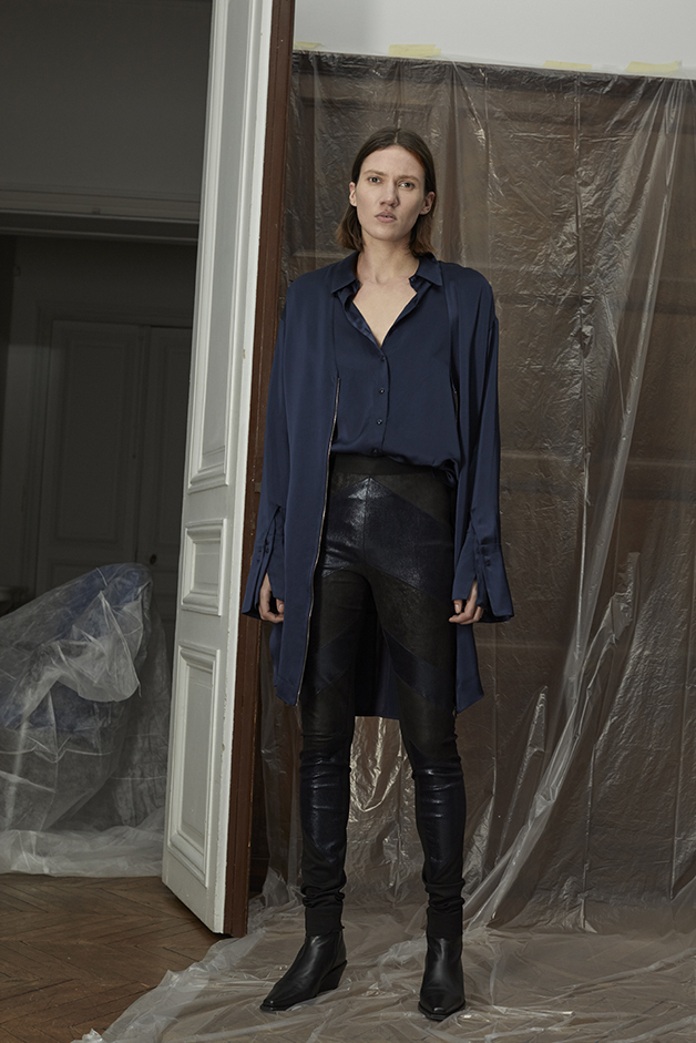 DRESS - BLOUSE - LEATHER PANTS - ILARIA NISTRI FALL WINTER 2018 COLLECTION
