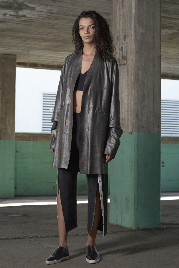 LEATHER COAT - TOP - PANTS - COLLECTION ILARIA NISTRI SPRING SUMMER 2018