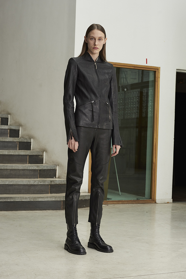 ILARIA NISTRI FALL WINTER 2016 COLLECTION jacket pants leather